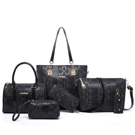 Ericdress Classic Serpentine Embossed Handbags(6 Bags)