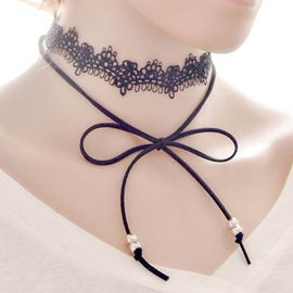 Ericdress Bowknot Design Lace Necklace