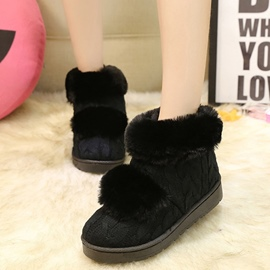 Ericdress Cable Knit Snow Boots
