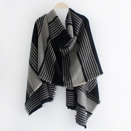 Ericdress Classic Stripe Design Warm Shawl Scarf