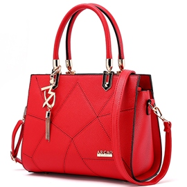 Ericdress Pure Color Geometric Patchwork Handbag