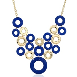 Ericdress Multicolor Circle Hollow Statement Necklace