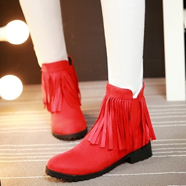 Ericdress Lovely Tassels Round Toe Ankle Boots