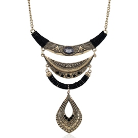 Ericdress Alloy Water Droplets Pendant Necklace