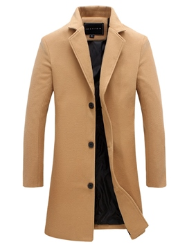 Ericdress Plain Vogue Mid-Length Slim Men's Trench Coat