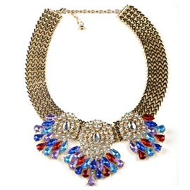Ericdress Shining Flowers Alloy Necklace