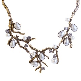 Ericdress Pearl Embellished Alloy Branch Necklace