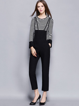 Ericdress Unique Suspender Pants Leisure Suit