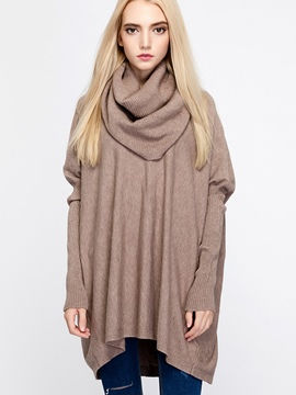 Ericdress Heap Neck Pleated Knitwear