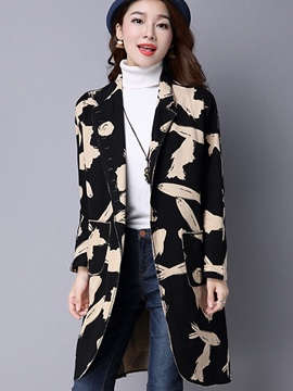 Ericdress Color Block Loose Casual Trench Coat