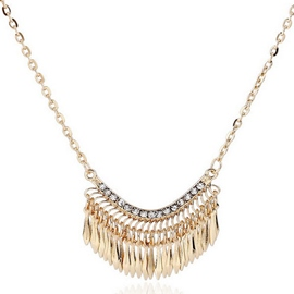 Ericdress Golden Tassels Pendant Necklace