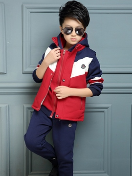Ericdress Coat Vest Pants Sport Boys Outfit
