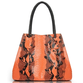 Ericdress Shiny Serpentine Print Handbag