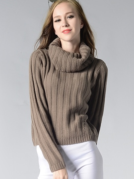 Ericdress Heap Neck Plain Knitwear