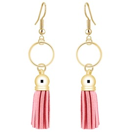 Ericdress Pink Tassels Pendant Earrings
