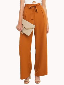 Ericdress Loose Lace-Up Pants