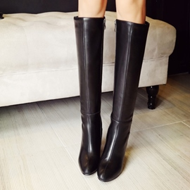 Ericdress European PU Chunky Heel Over The Knee Boots
