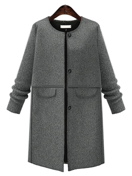 Ericdress Casual Loose Single-Breasted Coat