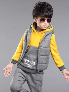 Ericdress Hoodie Vest Pants Sport Boy's Suits