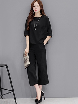 Ericdress Loose Simple Leisure Suit