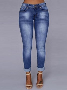 Ericdress Skinny Gradient Color Jeans