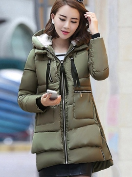 Ericdress Loose Casual Hooded Coat