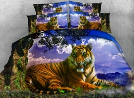 Ericdress Mighty Forest Tiger Print 3D Bedding Sets