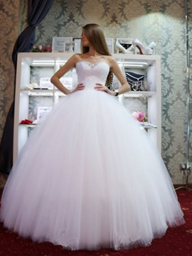 Ericdress Modern Sweetheart Beading Floor-Length Ball Gown Wedding Dress