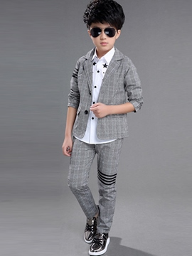 Ericdress Jacket Shirt and Pants Three-Piece of Boy's Suit