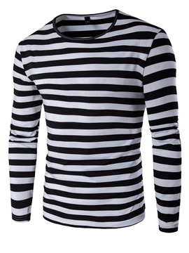 Ericdress Color Block Stripe Casual Long Sleeve Men's T-Shirt