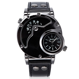 Ericdress Double Movement Black Surface Men's Watch