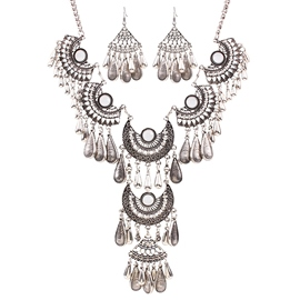 Ericdress Retro Multilayer Tassels Diamante Jewelry Set