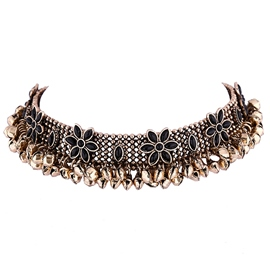Ericdress Alloy Flower Choker Necklace