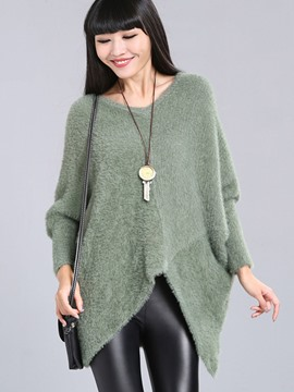 Ericdress Solid Color Cross Loose Knitwear