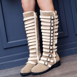Ericdress Special Buckles Knee High Boots