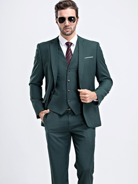 Ericdress Plian One Button Two-Piece of Men's Casual Suit
