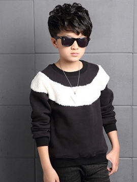 Ericdress Color Block Thickening Boys T-Shirt