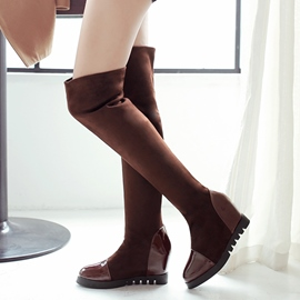 Ericdress Patchwork Elevator Heel Knee High Boots