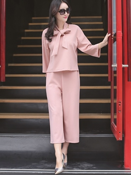 Ericdress Solid Color Ladylike Leisure Suit