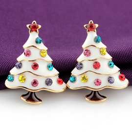 Ericdress Christmas Tree Stud Earrings