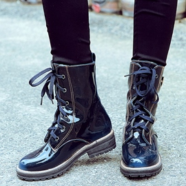 Ericdress Cool Patent Leather Ankle Boots
