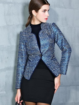 Ericdress Slim One-Button Elegant Blazer