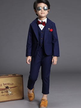 Ericdress Jacket Vest and Pants Three-Piece of Boy's Suit