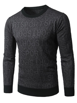 Ericdress Crew Neck Long Sleeve Pullover Letter Men's Knitwear