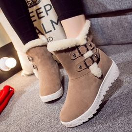 Ericdress Lovely Buckles Snow Boots