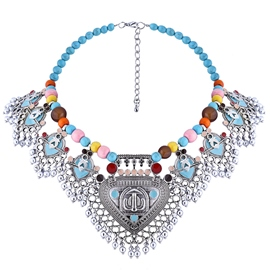 Ericdress Colorful Beaded Alloy Necklace