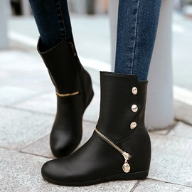 Ericdress Charming PU Elevator Heel Ankle Boots