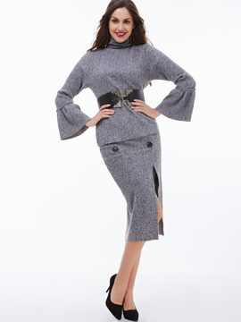 Ericdress Ladylike Split Skirt Leisure Suit