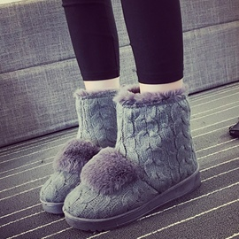 Ericdress Lovely Kintting Snow Boots