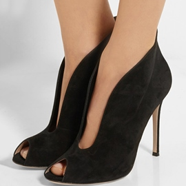 Ericdress Noble Black Peep Toe Stiletto Sandals